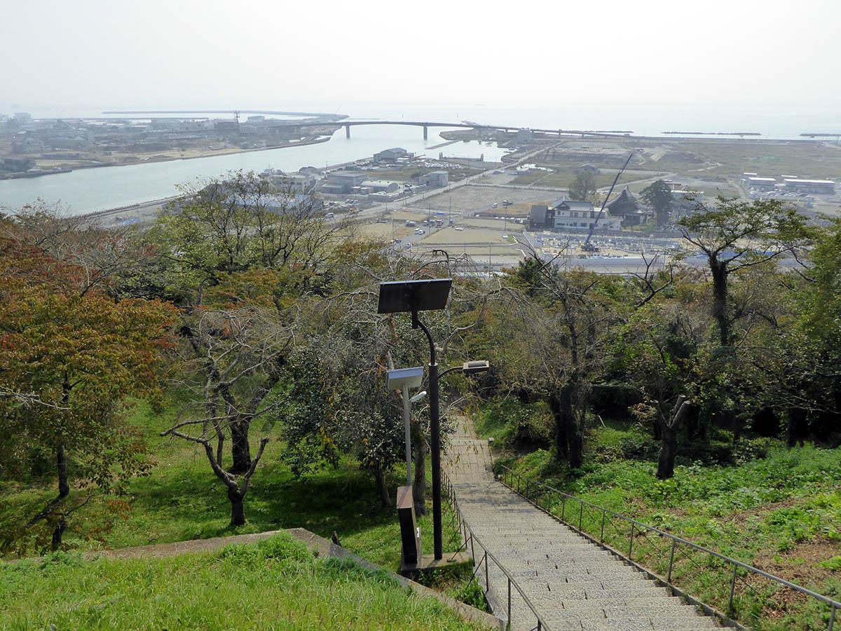 s日和山から海を